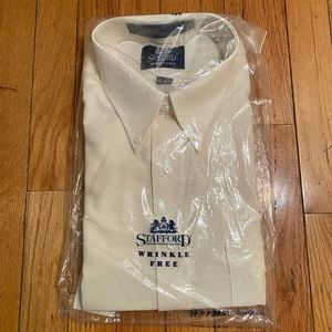 NEW with tags Stafford Cream Dress Shirt